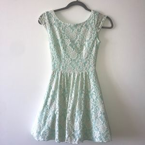 Mint Lace Mini Dress